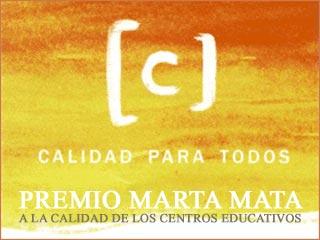Premio Marta Mata a la calidad de los centros educativos