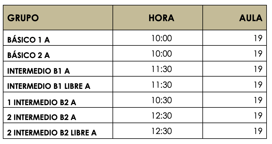 Revision De Examenes Español Sept19