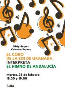 Cartel Coro Día Andalucía