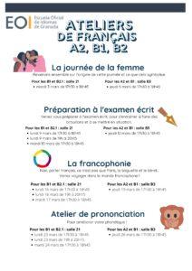 Français Ateliers A2 B1 B2.1 Mars