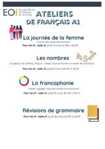 Français Ateliers A1 Mars