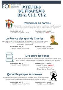 Français Ateliers B2.2 C1 Mars