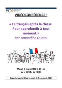 Conférence Amandine