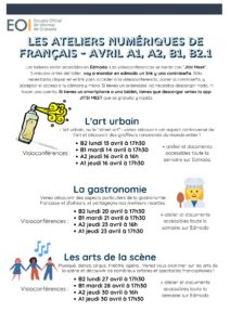 Ateliers A1 A2 B1 B2.1 Avril