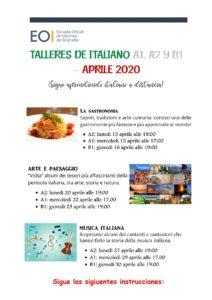Talleres De Italiano A1, A2, B1 1