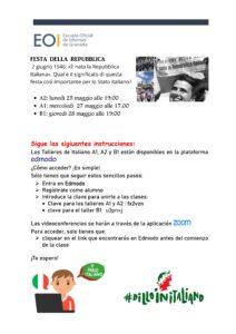 Talleres Italiano A1 A2 B1 Mayo 2