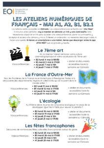 Ateliers Fr A1 A2 B1 B2.1 Mai