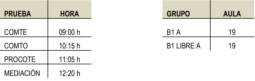Prueba Escrita Árabe B1