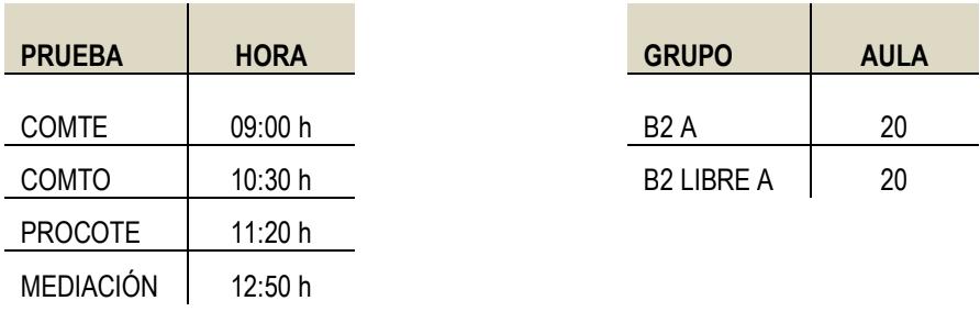 Prueba Escrita Arabe Intermedio B2
