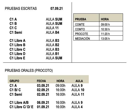 Certificación Inglés C1